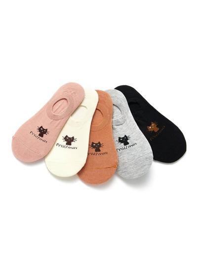 5 pares de calcetines con gato