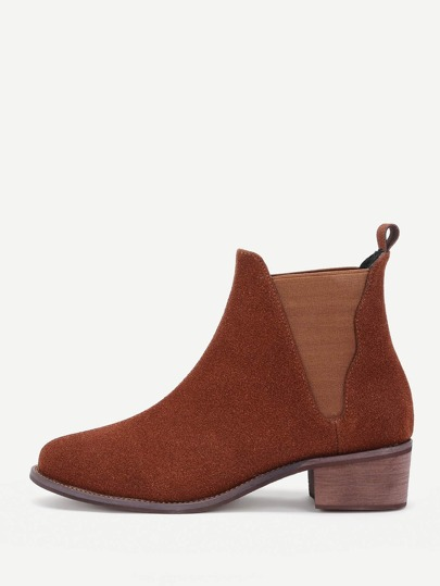 Cork Heeled Ankle Boots