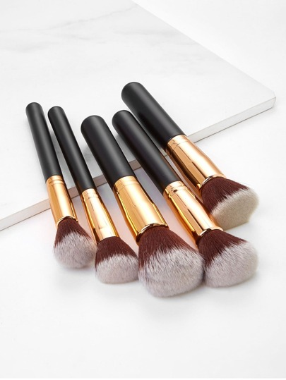 Two Tone Handle Makeup Brush Set 5pcs