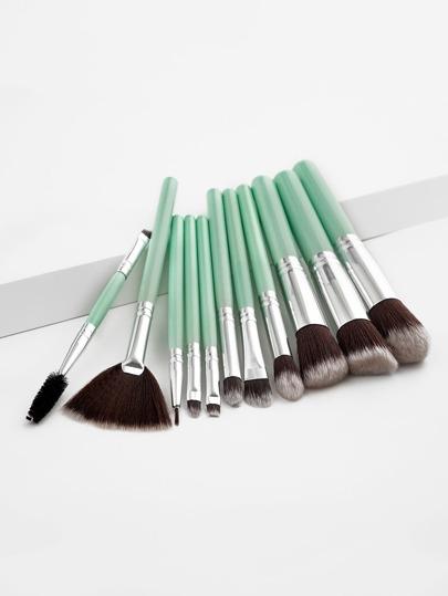 11 piezas de pinceles de maquillaje en dos tonos