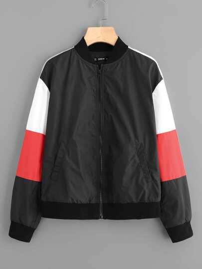 Cut And Sew Windbreaker Jacket