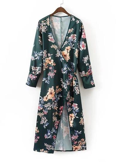 Kimono lungo con scollo profondo