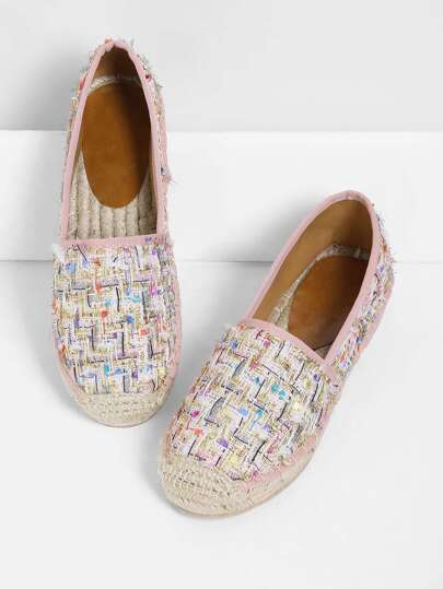Mix Pattern Cap Toe Flats