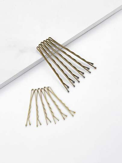 Metallic Bobby Pin Set 10pcs