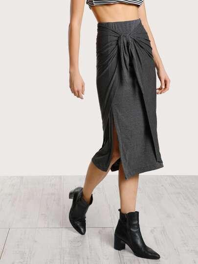Wrap Around Skirt GREY