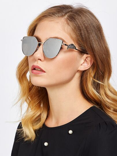 Gafas de sol ojo de gato con lentes planos