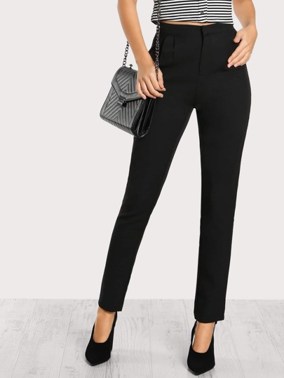 High Rise Skinny Pants BLACK