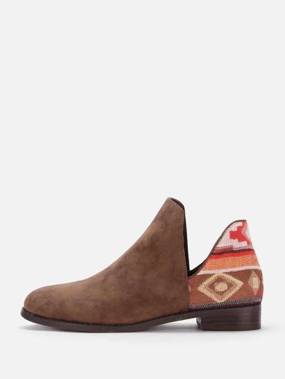V Cut Chelsea Boots