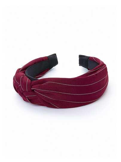 Braided Detail Striped Headband