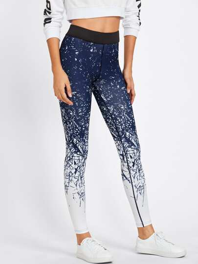 Leggings de sport imprimé abstrait