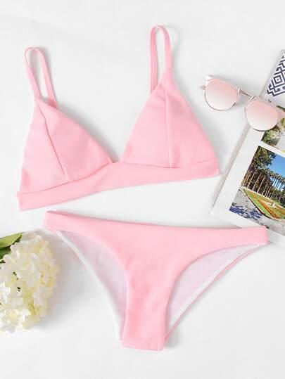 Set di bikini da spiaggia di triangolo