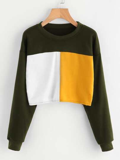 Sweat-shirt color-block