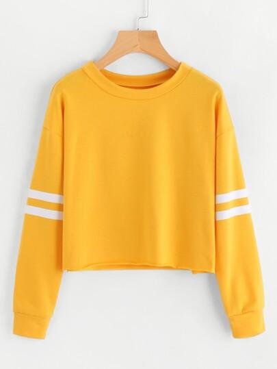 Sweat-shirt avec manche rayure