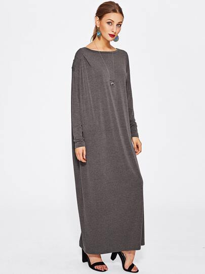 Heather Knit Cocoon Tee Dress