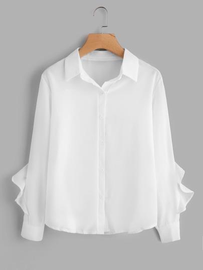 Frill Trim Shirt