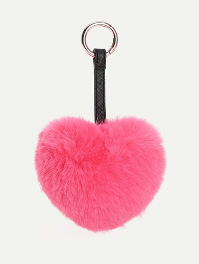 Accesorios de bolso en forma de corazón con piel sintética