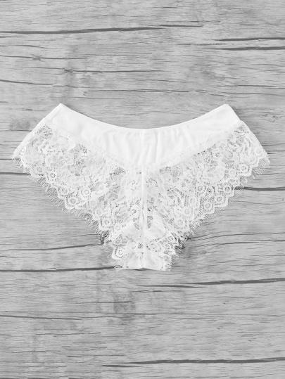 Eyelash Lace Trim Panty