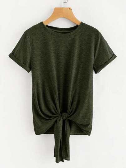 Camiseta marled con nudo