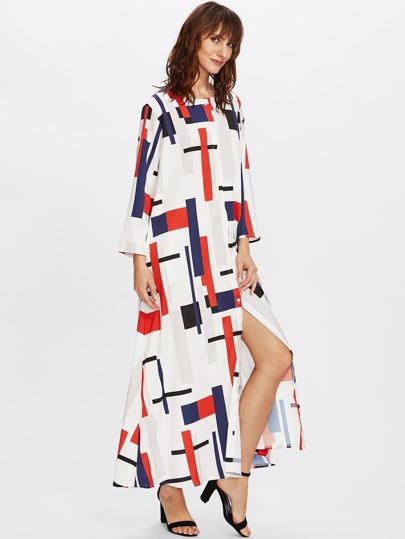 Bluse Kleid mit Geomuster