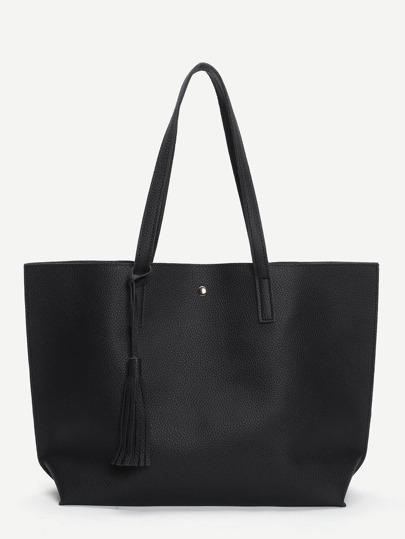 PU Handtasche mit Quaste