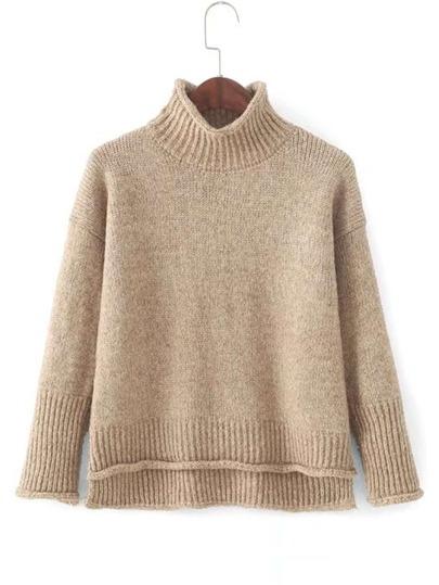 Pullover mit abfallendem Saum