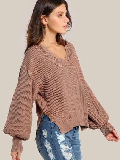 Oversize Ribbed Sweater BLUSH