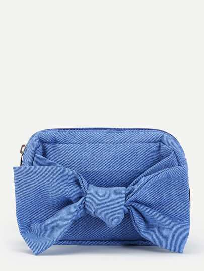 Bow Knot Detail Clutch Bag