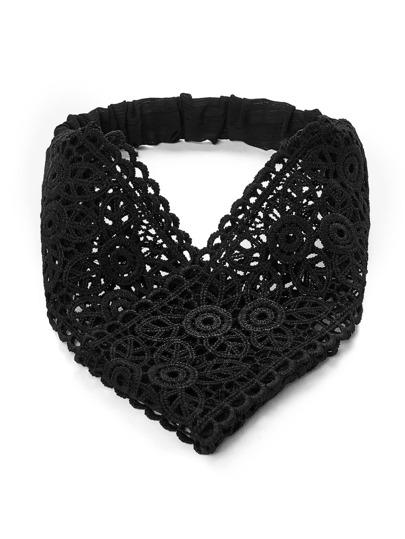 Lace Crochet Twist Headband