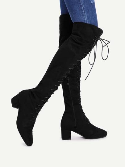 Stivali alti con tacco
