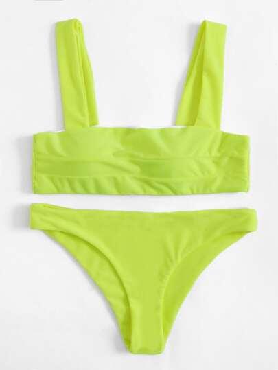 Double Straps Bikini Set