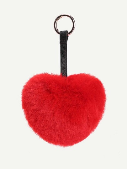Accesorio de bolso en forma de corazón con piel sintética
