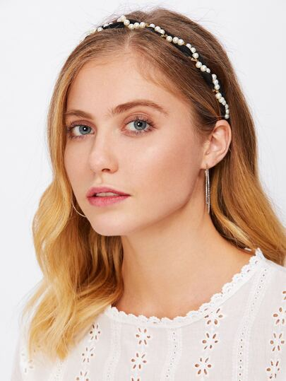 Faux Pearl Headband
