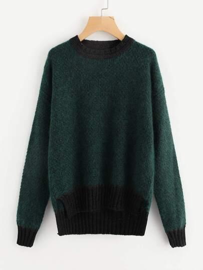 Maglione con bordi a contrasto