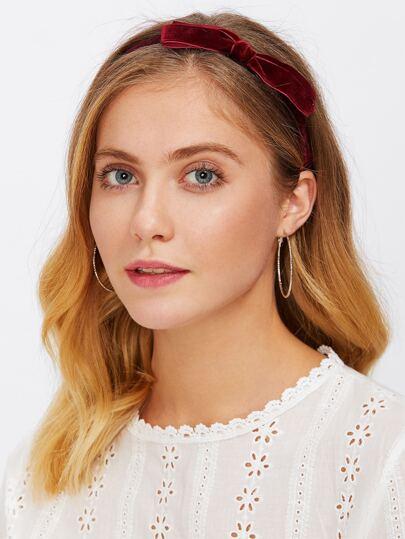 Bow Tie Velvet Headband