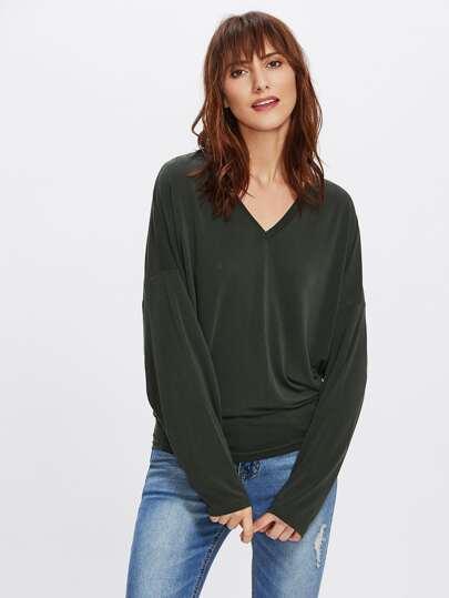 Drop Shoulder Dolman Sleeve T-shirt