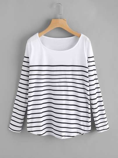 Striped Loose T-shirt