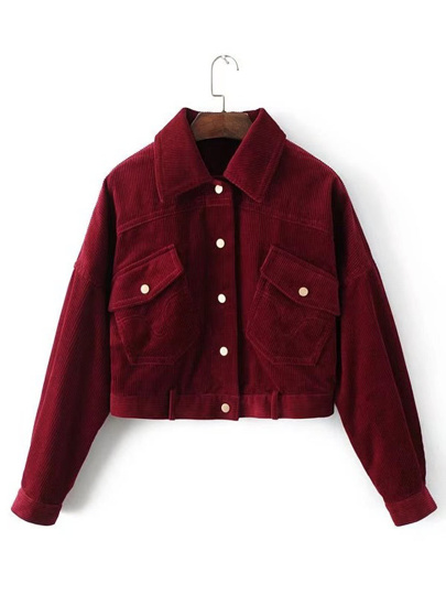 Flap Pocket Corduroy Western Jacket