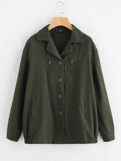 Manteau avec coude découpé