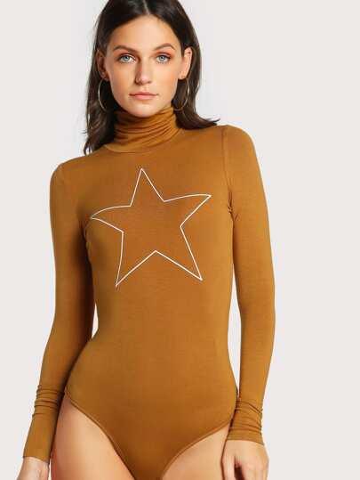 Body con estampado de estrella