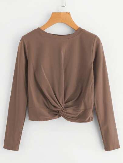 Twist Front Crop Tshirt