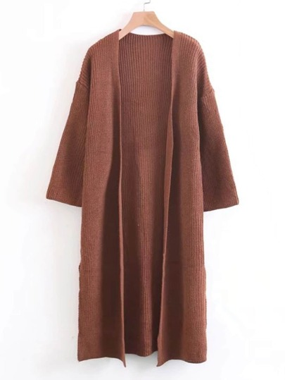Side Slit Longline Cardigan