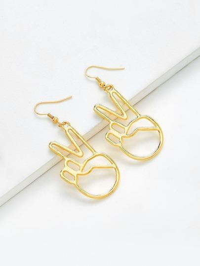 Boucles d\'oreille design de geste creux