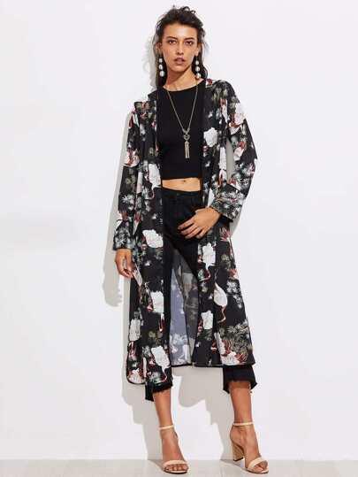 Kimono lungo stampato