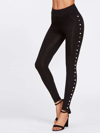 Pearl Embellished Leggings
