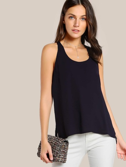 Hi Lo Sleeveless Top