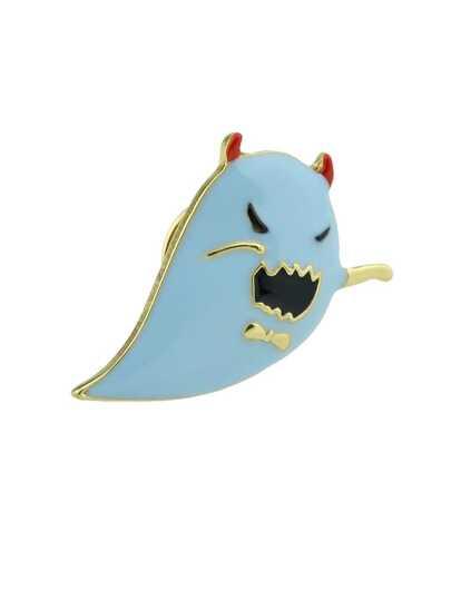 Halloween Funny Little Blue Ghost Brooch