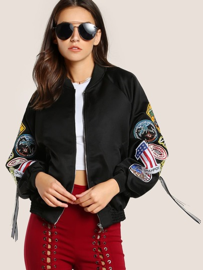 Patched Up Bomber Jacket