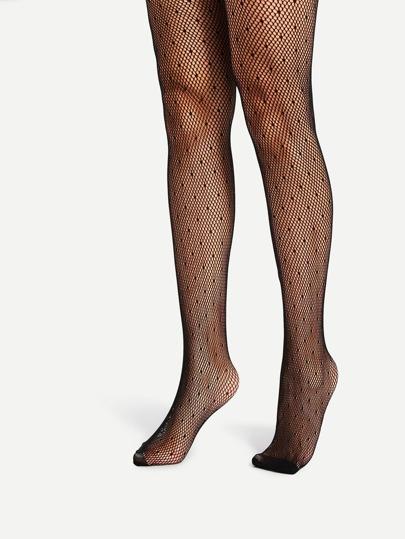 Dot Design Fishnet Stockings