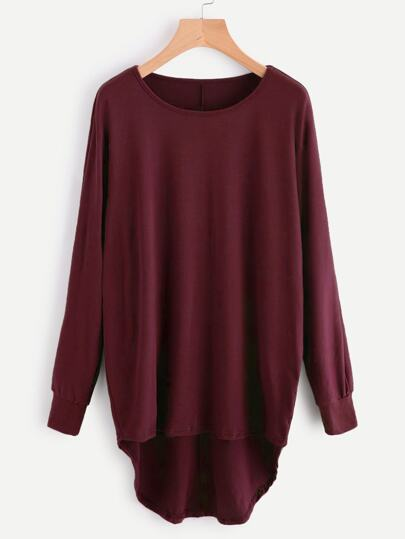 High Low Oversized Batwing Sweatshirt