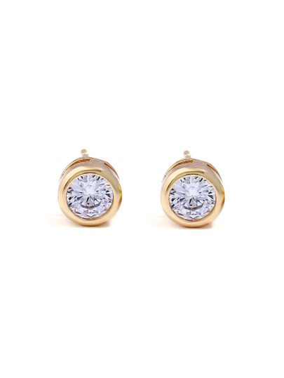 Delicate Rhinestone Stud Earrings